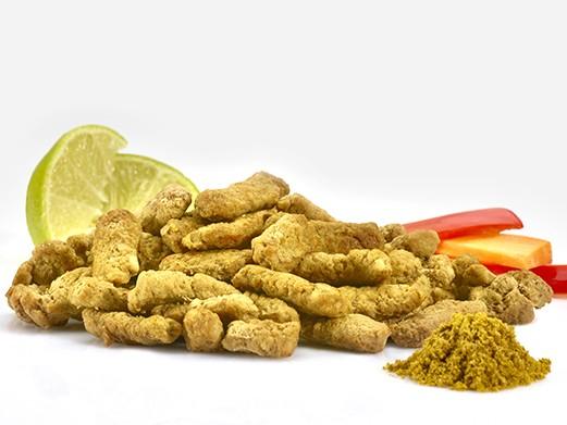 Curry-flavoured chicken, 10% fat